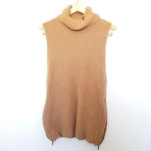 Forever 21 Long Sleeveless Turtleneck Sweater